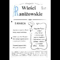 Wieści Raniżowskie nr 1